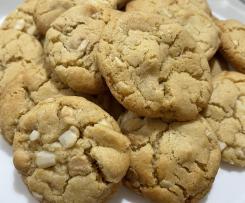 Caramilk and Macadamia Cookies