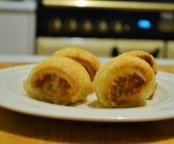 Cheese and Bacon Sausage Rolls