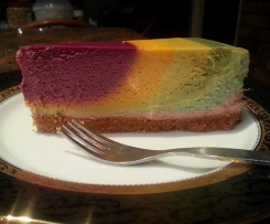 Adapted Rainbow Cheesecake