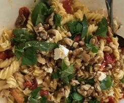 Variation Cheats Capsicum, Feta and Walnut Pasta Salad