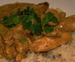 Chicken, Cashews with Coconut Sauce and Coconut Rice