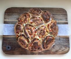 Healthy Pull-Apart Pizza Pinwheels