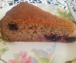 Wholefood Berry Cake
