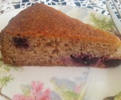 Wholefood Berry Cake