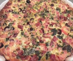 Frittata pizza and quiche meet!!