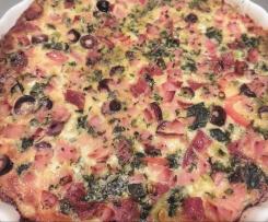 Frittata pizza and quiche meet!!
