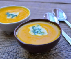 Roasted Butternut Pumpkin Soup with Chilli and Ginger
