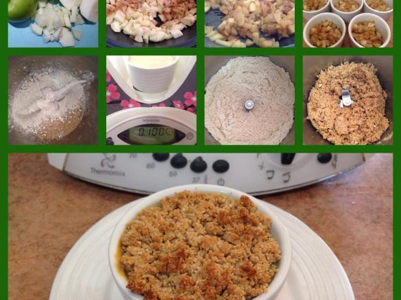 apple and custard crumble by mummyof3 a thermomix recipe in the category desserts sweets on. Black Bedroom Furniture Sets. Home Design Ideas