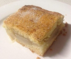 Apple slice with Biscuit pastry