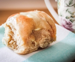 Apricot and White Chocolate Hot Cross Buns