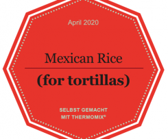 Mexican rice (e.g. for Tortillas), vegetarian