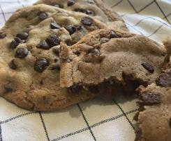 Nutella Stuffed Choc Chip Cookies