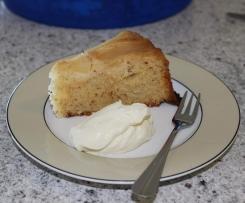 Pear & Almond Upside Down Cake
