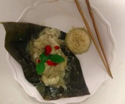 Aromatic Snapper in Banana Leaves with Quinoa