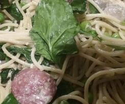 Chorizo, Smoked Salmon & Mushroom Pasta