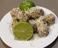 Lime and Coconut Protein Balls