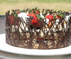Strawberry Hazelnut Gateaux