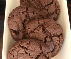 Eggless Double Chocolate Choc Chip Cookies