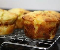Ham, cheese and pineapple muffins