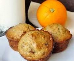 Whole orange and date muffins