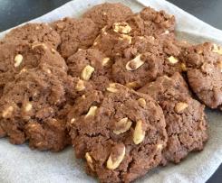 Peanut Choc Crisp Cookies