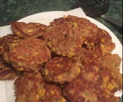 Tuna & Corn Fritters - Coles recipe- almost