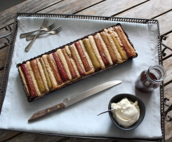 Maggie Beer's Vino Cotto and rhubarb tart