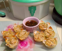 Baked Chicken Wonton Cups