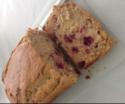 Passionfruit & Raspberry Banana Bread