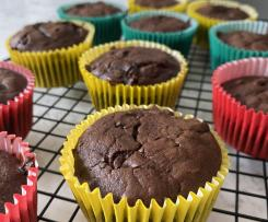 Fudgy chocolate muffins (Healthier)