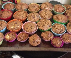 Morning Glory muffins (converted from Nico Moretti's  Cooking Passions cookbook)