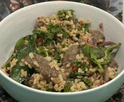 Clean Thai Beef Salad with Brown Rice