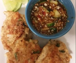 MKR Style Fish Cakes with Peanut and Lime Sauce