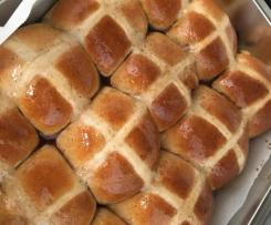 Hot Cross Buns- Dark Chocolate and Sour Cherry