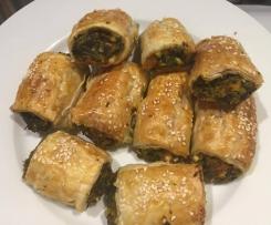 Pumpkin, Spinach & Feta Sausage Rolls