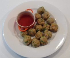 Vietnamese Lemongrass & Pork Balls with Dipping Sauce (Varoma Steamed)