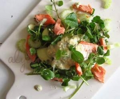 Trout salad & horseradish dressing