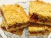 Rhubarb Brioche Crumble Slice