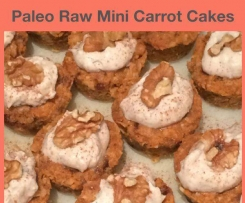 Paleo Vegan Mini Raw Carrot Cakes