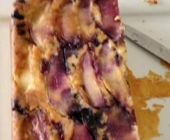 Raspberry Apple Upside Down Cake
