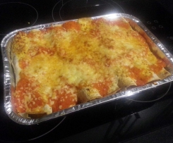 Chicken Enchiladas with tomato sauce