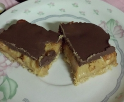 Hunters Clone of Salted Chocolate Caramel Slice with Peanuts (Gluten free)