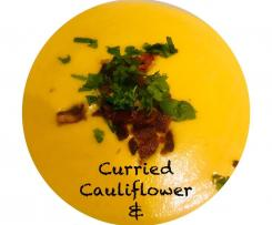 Curried pumpkin & cauliflower soup