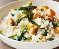 Roasted Pumpkin, Feta and Chicken Risotto