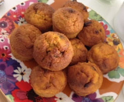 Mini Carrot + Raisin Muffins - Sugar Free / Dairy Free / Diabetic Friendly