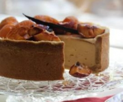 Vanilla Bean Cheesecake with Roasted Fruit