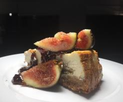 Kirsten's Baked Vanilla Fig Cheesecake with Balsamic Fig Glaze
