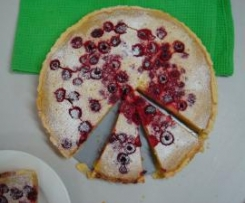 Lime and Raspberry Tart