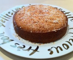 Lemon Coconut Cake with Lime Syrup