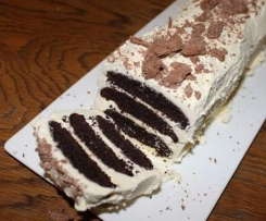 Gluten Free Chocolate Ripple Log